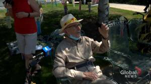 Calgary man joins centenarian club with curbside celebration