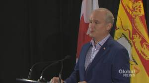 Canada's conservative leader visiting hotly contested ridings in N.B. (01:53)