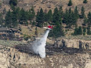 Fire alongside Highway 97 near Penticton
