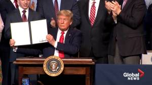 Trump signs water supply memo, talks about California's water regulations