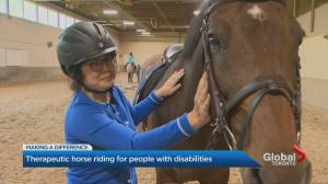 Toronto therapeutic riding program brings horses, people with disabilities together