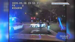 Video appears to show allegedly high driver nearly colliding with York police cruiser