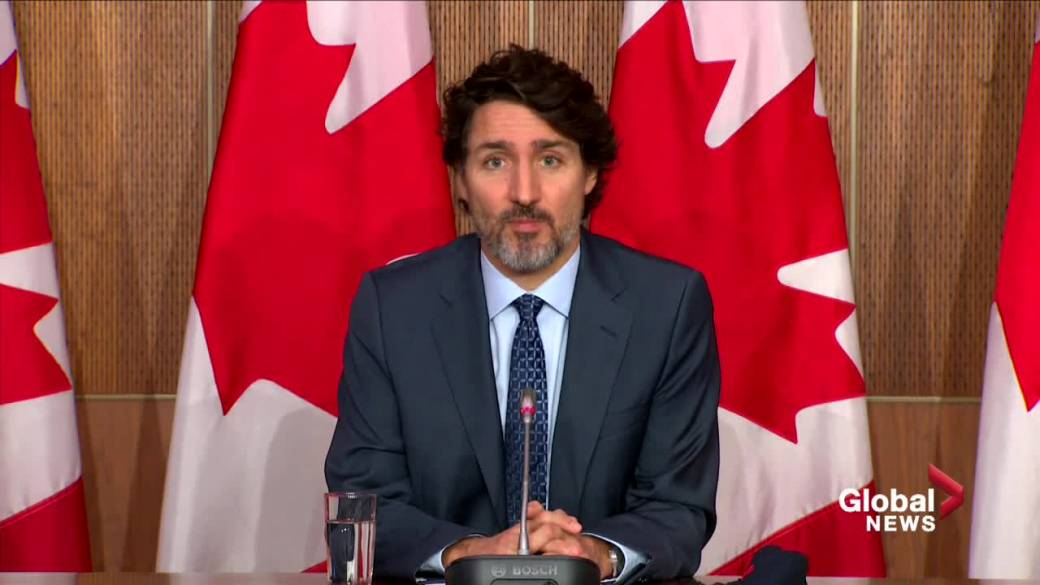 Click to play video: 'Prime Minister Justin Trudeau addresses upcoming protests against health orders in Montreal'