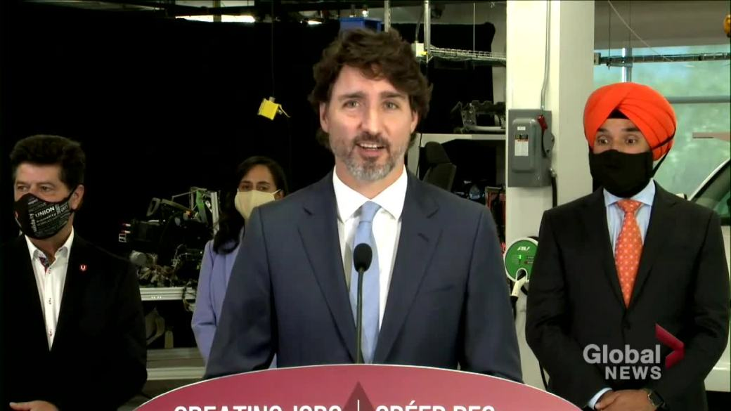 Click to play video 'Trudeau says he hopes for clear result in U.S. presidential election'