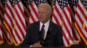 Biden unveils key points in his economic American Jobs Plan (00:51)