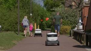 Coronavirus outbreak: Robots offer free delivery to health workers of English town