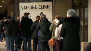 Vaccination supersite lineups (01:05)