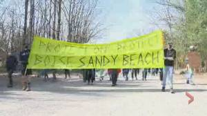 Hudson, Que., residents protest redevelopment plan for Sandy Beach (01:51)