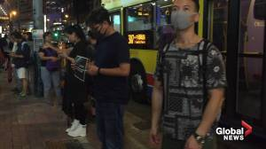 Protesters in Hong Kong form human chain