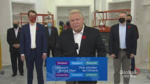 Ontario premier touts 'flexible' COVID-19 framework amid criticism (03:17)