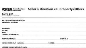 Matt Lee looks at the Seller's Direction for listings