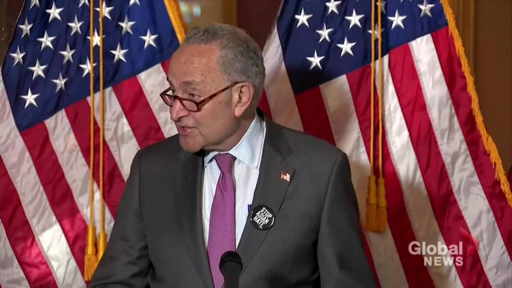 Click to play video: 'Schumer says Trump 'almost never discouraged' bigotry, racism'