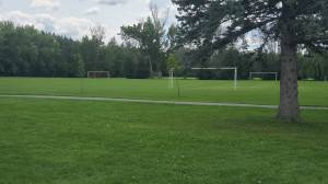 Outdoor, non-contact sports return to wet fields in Peterborough (02:20)