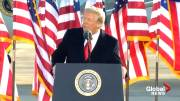 Play video: 'I wish the new administration great luck and great success,'  Trump says as he leaves office