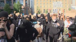 Peaceful protesters in Vancouver join the chorus of outrage