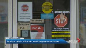 Ontario government requests military to assist long-term care homes