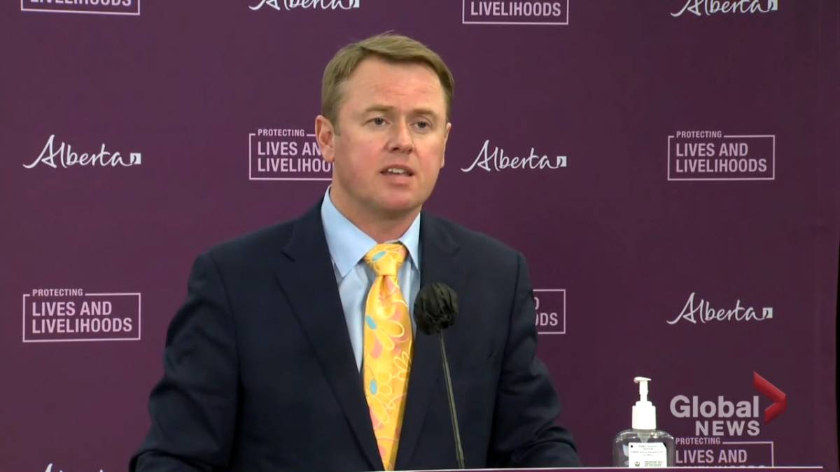 Click to play video: 'We understand the frustration': Alberta Health Minister's response to businesses affected by COVID-19 restrictions'