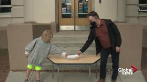 Pay it forward: How a lost sweater taught an Edmonton boy about giving back (01:59)