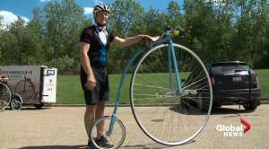 Unique, 1800s bike turning heads and wheels in Edmonton