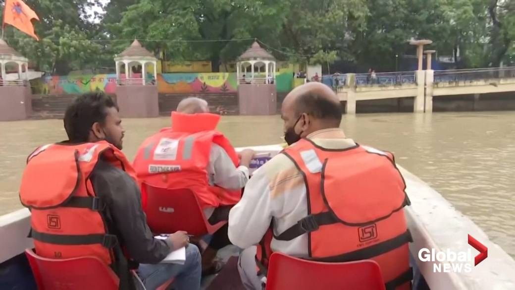 'Residents successful  flood-hit eastbound   India usage  boats to commute'