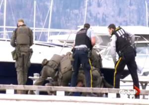 Police takedown of man along Kelowna's waterfront