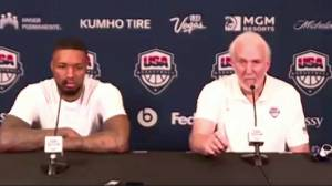 Team USA men's basketball coach Gregg Popovich has angry exchange with reporter after U.S. drops 2nd straight (02:41)