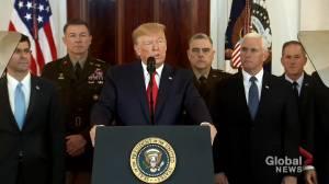 Trump announces no U.S. casualties in Iranian missile attack