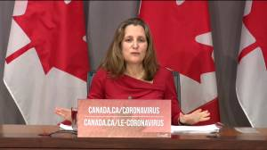 Coronavirus outbreak: Freeland reiterates message of 'critical week' in COVID-19 fight