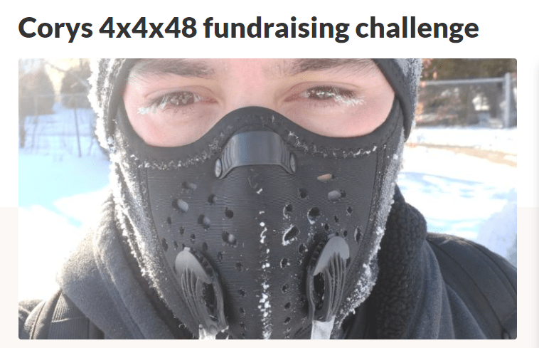 Click to play video 'Peterborough resident takes on the 4x4x48 fundraising challenge to raise money for COVID-19 relief'