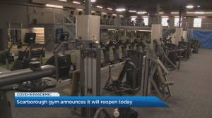 Coronavirus: Scarborough gym announces it will reopen Thursday (02:14)