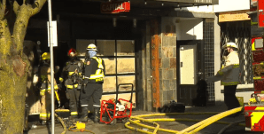 Fire damages West End restaurant, apartments (00:48)