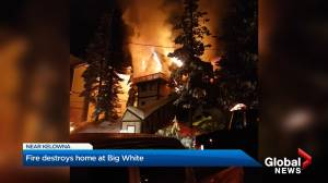 Fire destroys home at Big White