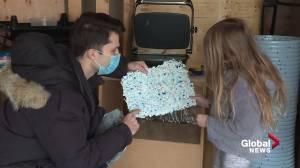 Small business gives plastic new purpose inside Edmonton garage (01:36)