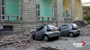Buildings damaged, dozens injured in Albanian earthquake