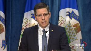 Winnipeg Mayor Brian Bowman talks about the city's first presumptive case of COVID-19 (00:29)