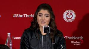 Bianca Andreescu thinks about competing in Olympics