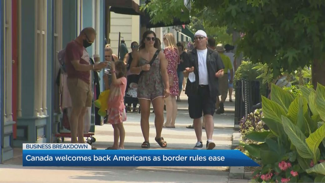 Click to play video: 'Canada welcomes back Americans with relaxed border rules'