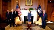 Play video: Trump Supreme Court pick Amy Coney Barrett meets with Republican Senators, VP Pence