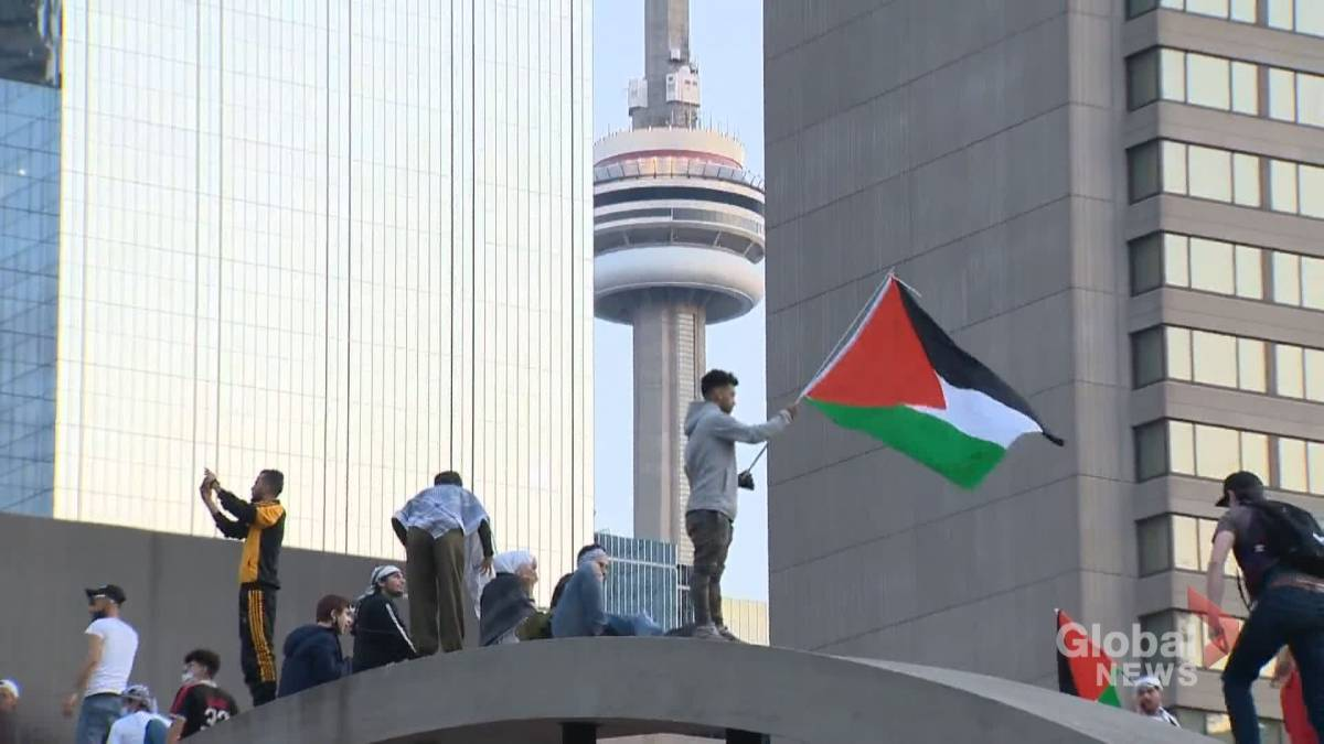 Click to play the video: 'The Israeli-Palestinian conflict sows division in Canada'