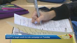 Ontario high school teachers to start administrative work-to-rule campaign Tuesday
