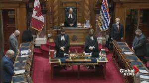 Moment of silence at B.C. legislature to mark first anniversary of the pandemic (01:18)