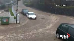 Portuguese island faces unprecedented Christmas Day flooding (00:45)