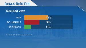 New poll reveals which party B.C. voters would choose on major issues (01:45)