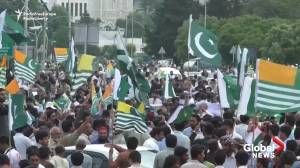 Pakistanis rally in Islamabad, show support for Kashmir