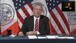 Coronavirus: New York mayor says city shutdown could come 'in the weeks ahead' (01:00)