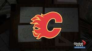 History of the Calgary Flames logo