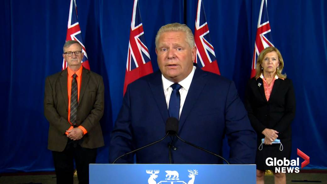 Click to play video 'Coronavirus: Ford says he's being 'polite' by calling groups discouraging public health measures 'yahoos''