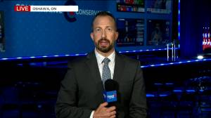 Canada election: Mood not great at Conservative party headquarters following projected Liberal minority government (01:39)