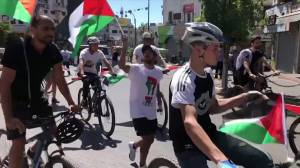 Palestinians in Israel stage protests as airstrikes continue in Gaza (03:13)