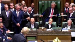 UK Prime Minister Boris Johnson bids farewell to John Bercow on last day as speaker